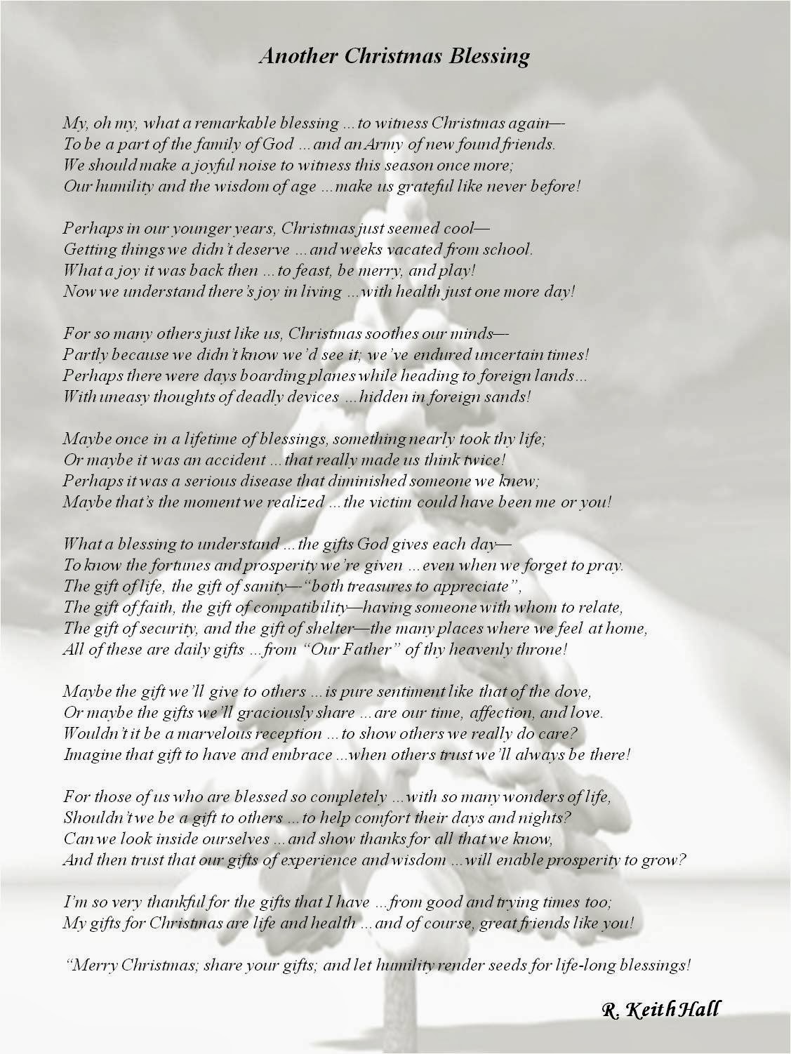 Christmas Blessing Poem.Christmas Blessing Poem 50626 Lineblog