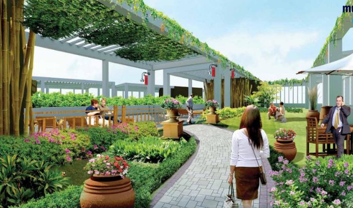 Vườn thượng uyển chung cư Green Pearl Minh Khai