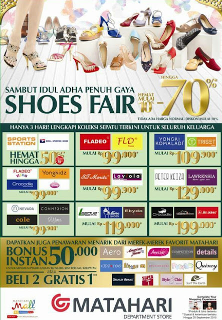 Matahari Promo Shoes Fair Sambut Idul Adha Penuh Gaya 18-20 September 2015