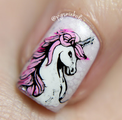 Unicorn Decal Nail Art