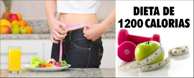 Dieta de 1200 calorias para emagrecer