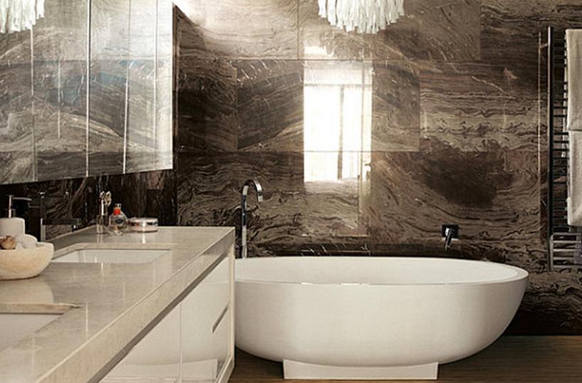 Motif Keramik dinding kamar mandi minimalis ukuran luas mewah