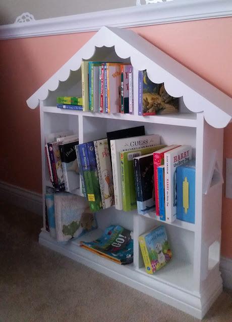 DIY Wood Girls Dollhouse Bookshelf