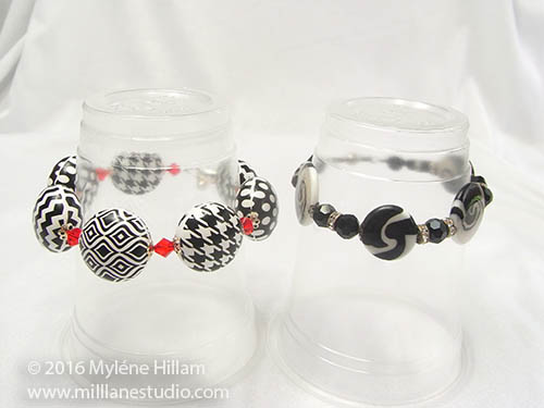 Side by side, these bracelets are the same size, but place them on a cup and you can see they both fit the same size wrist!