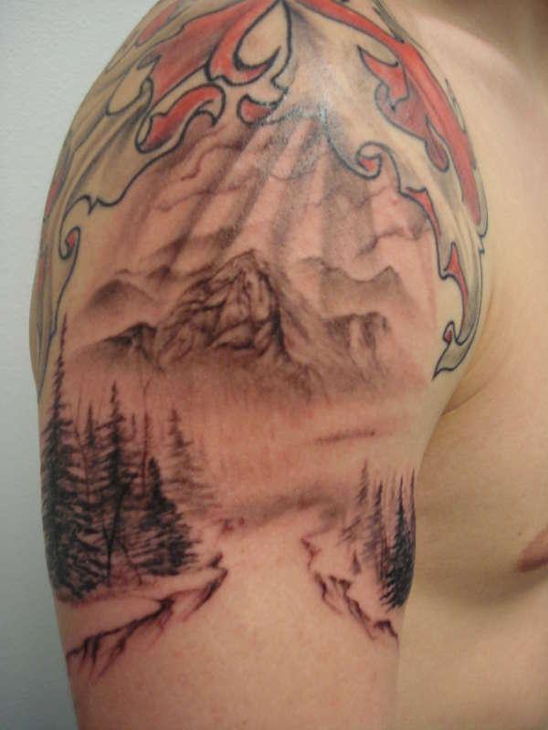 Mountain Tattoo Design: Mountain Tattoo