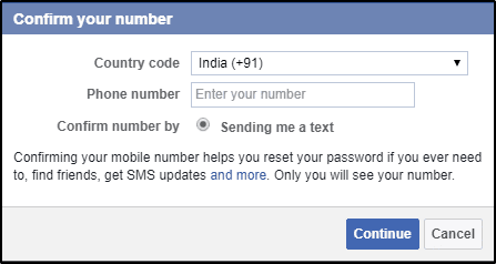 add mobile number