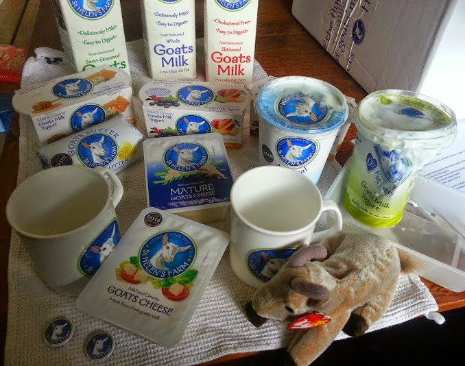St. Helen's Farm Goat's Milk Products Hamper contents