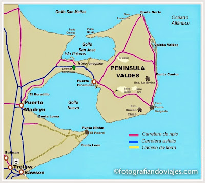 Resultado de imagen de peninsula valdes mapa