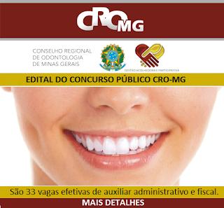 Apostila Concurso CRO MG 2016 auxiliar administrativo e fiscal