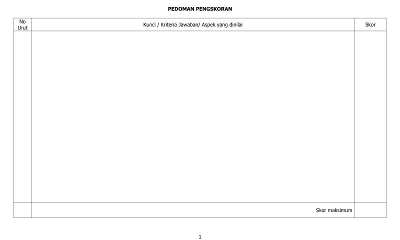 Download Contoh Format Pedoman Pengskoran - Lembar 2 untuk AdministrasiGuru SD/MI-SMP/MTs-SMA/SMK/MA