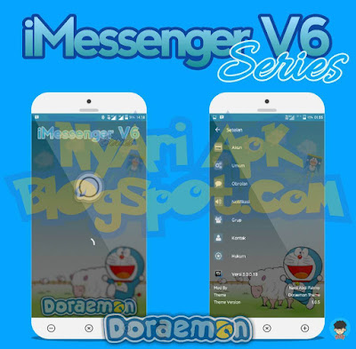 Download BBM Mod iMessenger v6 Tema Doraemon Versi 3.0.0.18 Apk