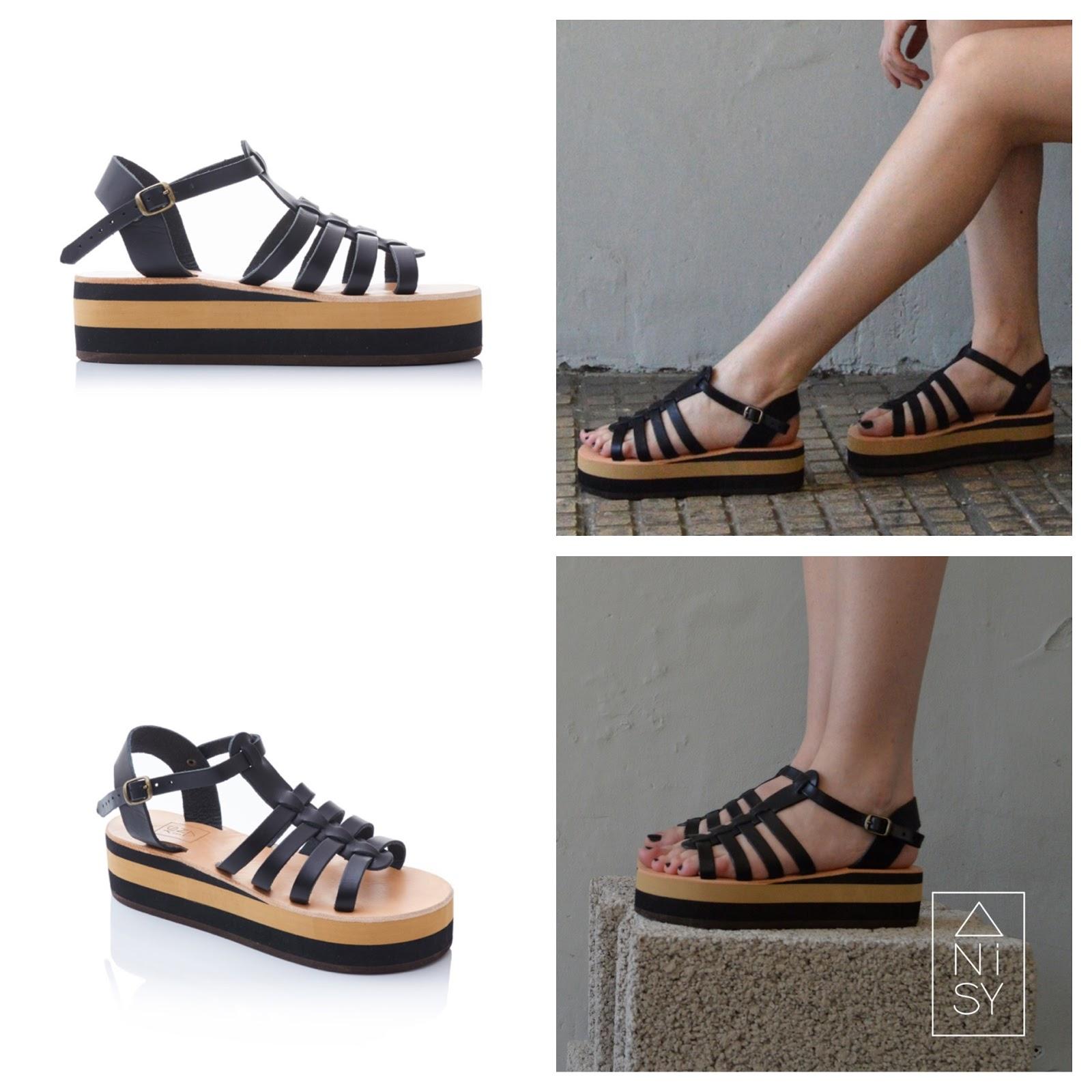 c41c6a268695 The  Pyritis  Pink Gold Flatform Gladiator Sandals. The  Aplitis  Nude Beige  ...