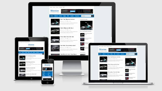 wizzblue responsive Blogger template
