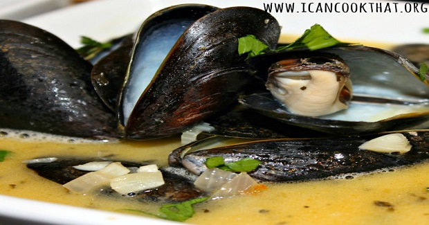 Mussels In White Wine Garlic Sauce Recipe