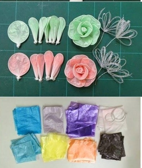 Resultado de imagen para flores con bolsas plasticas