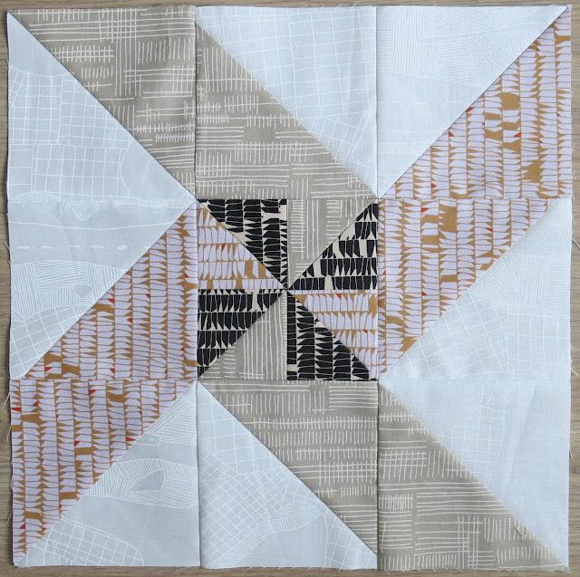 HST Quilt-Along - Block #15 Windmill - Carolyn Friedlander fabrics