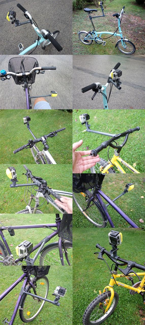 algunas opciones para colocar la gopro en una bici