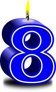 Vela número 8