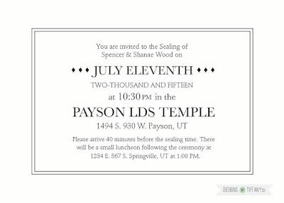 Custom Wedding Invitation Designs By TiffanyCo