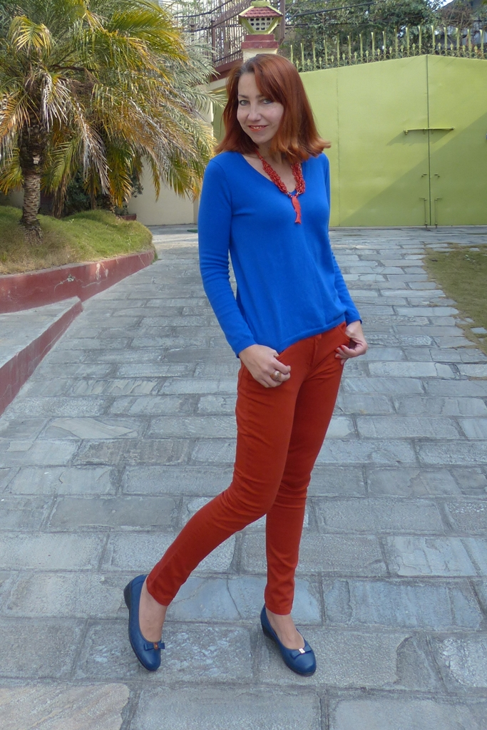 Orange and blue trend