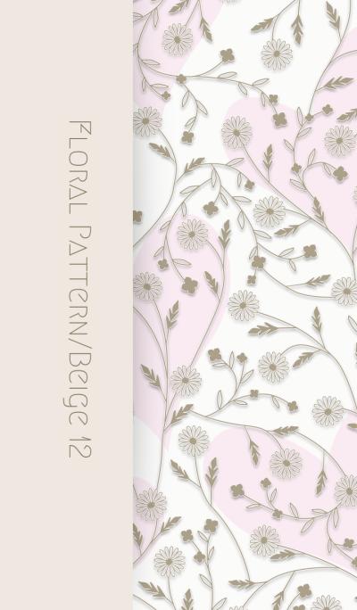 Floral Pattern[daisy]/Beige 12