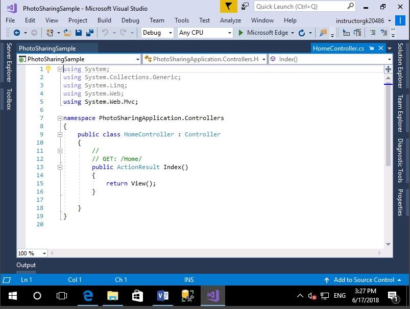 20486C - Module 1 demo | Metafore Technical Training