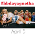 #hbdayagnetha Project!