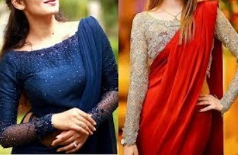 PLAIN Sarees With Stylish NET Blouse