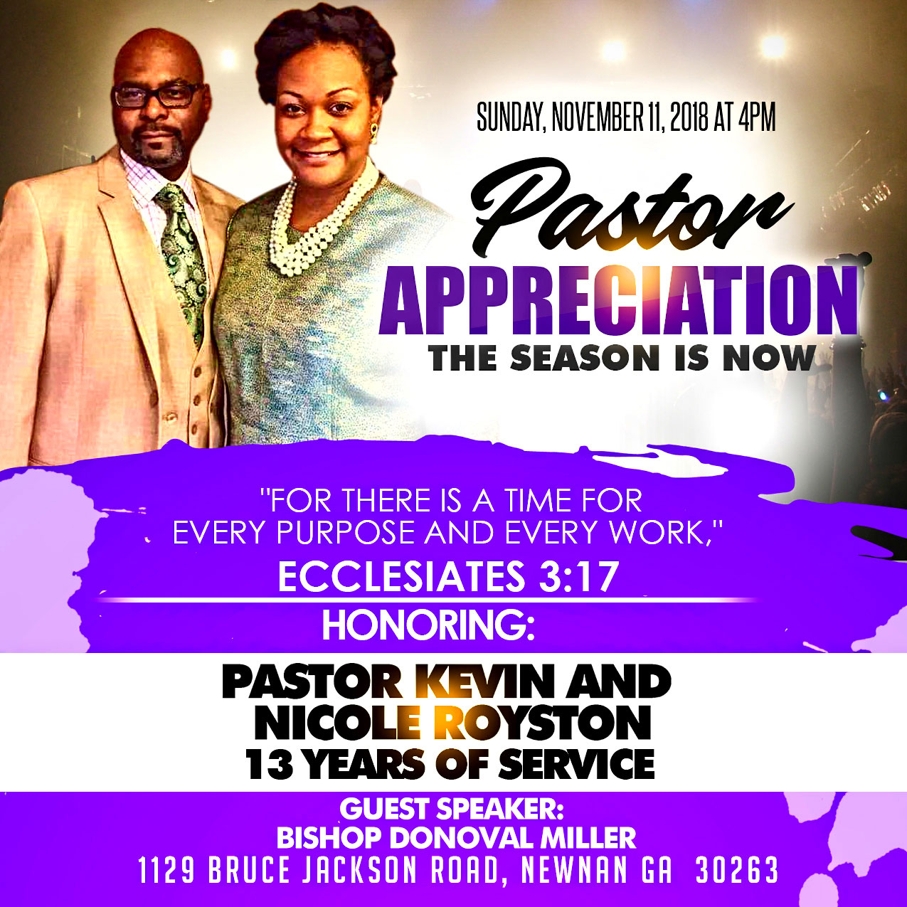 Creative Designs: Pastor Appreciation Flyer
