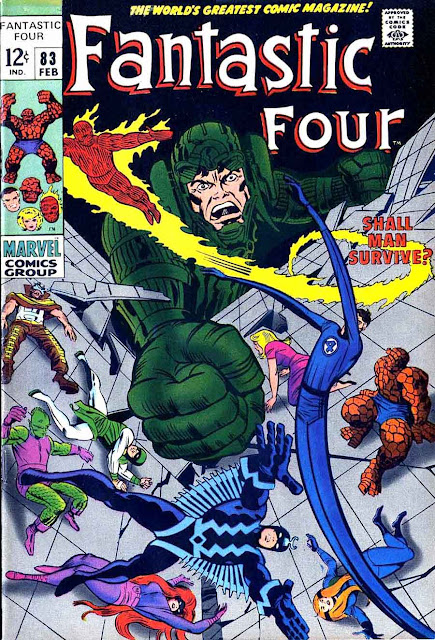 Fantastc Four v1 #83 marvel 1960s silver age comic book cover art by Jack Kirby
