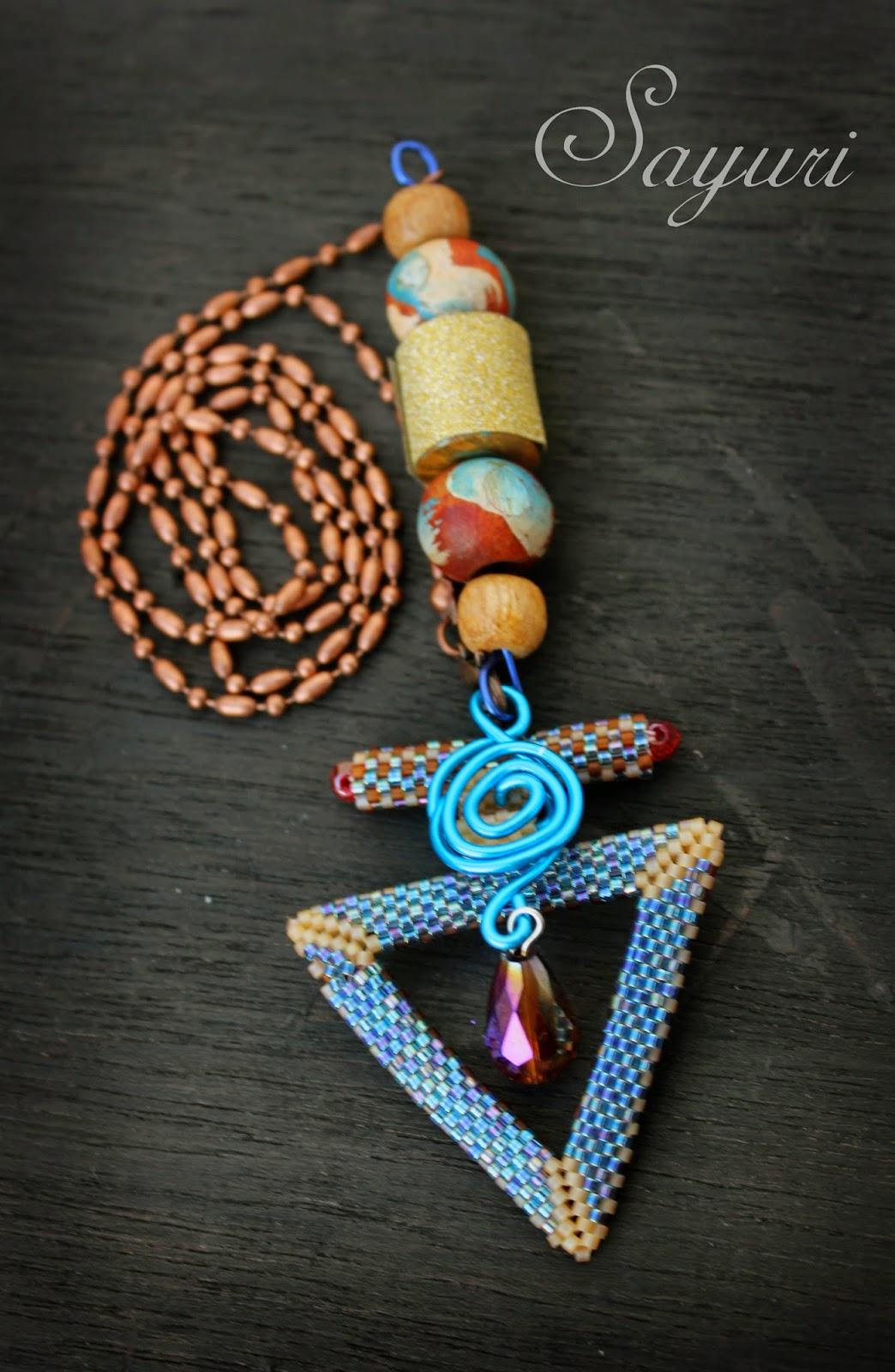 clasp as pendant necklace Divya N sayuri www.jewelsofsayuri.com