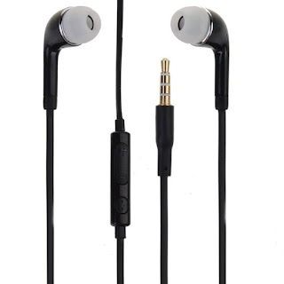 J05 In-Ear Noise Cancellation Stereo Earphone with Volume Control Black
