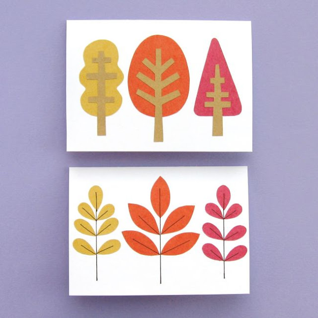 woodland cards for autumn / fall