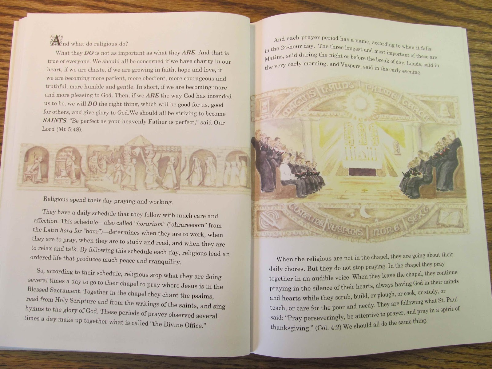 Pages from Maria Montessori, The Mass Explained to Children