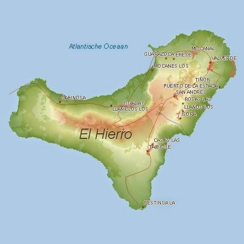 Mapa De El Hierro.Islas Del Mundo El Hierro