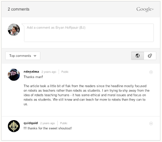 Google adds Google+ comments to Blogger