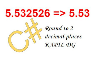 Convert to two decimal places C#