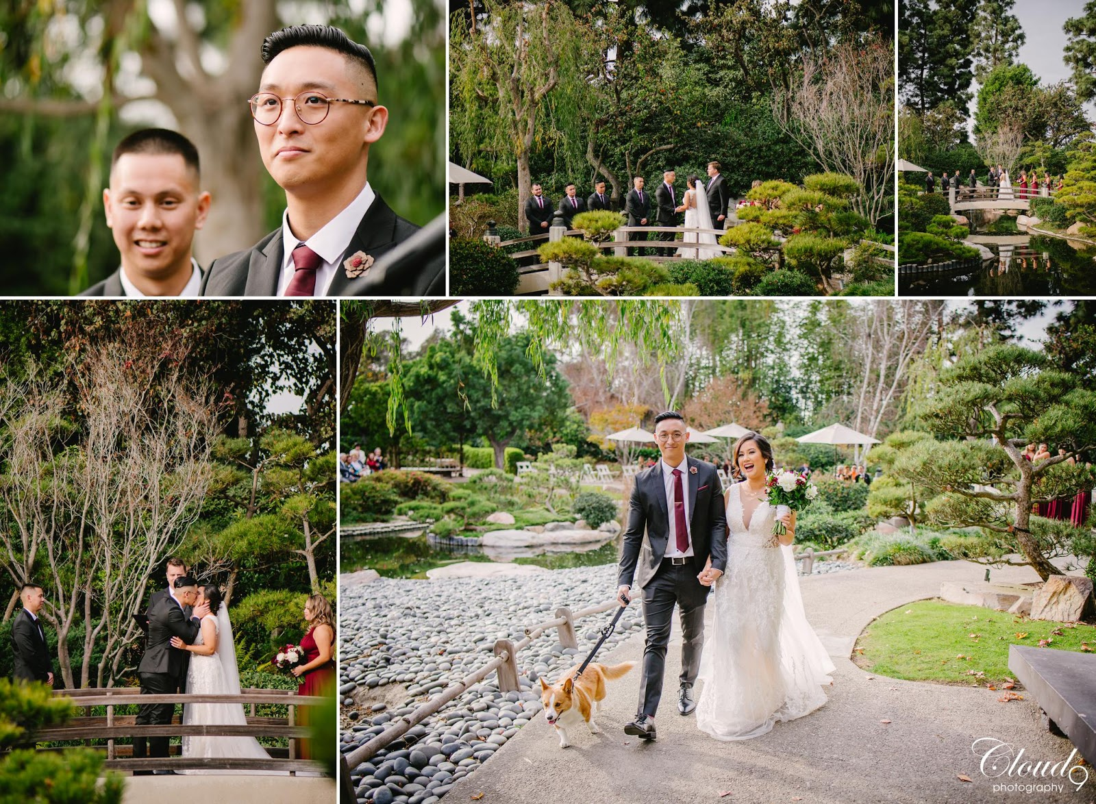 Vicky + Jolly. Wedding day at Earl Burns Miller Japanese Garden ...