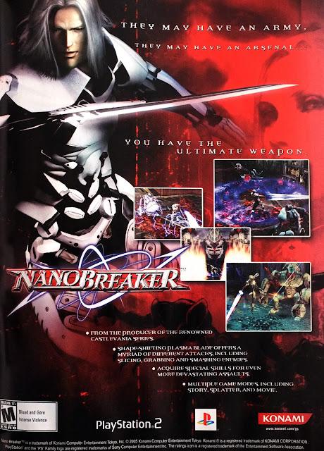 Retro Gaming Art: Nano Breaker For PS2 Print Ad (2005