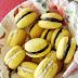 Żółte makaroniki bananowe i kakaowe