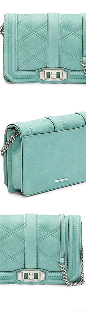Rebecca Minkoff Small Love Embossed Crossbody