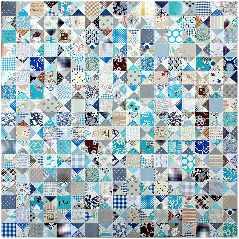 An Ohio Star Quilt - The Blues | Work in Progress | © Red Pepper Quilts 2017