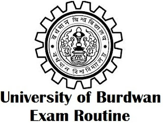 University of Burdwan Exam Routine 2017