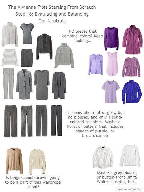 How to build a capsule wardrobe from scratch - evaluating neutral colors