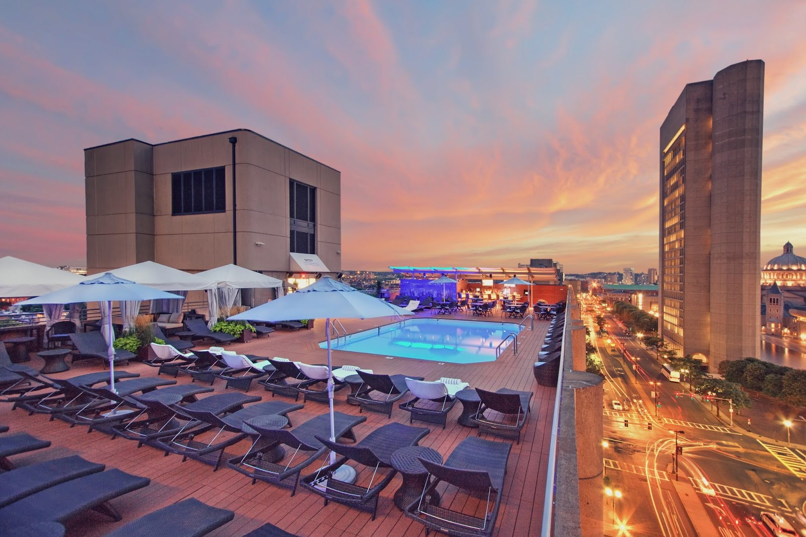 The Colonnade, Boston, Rooftop Pool