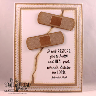 Our Daily Bread Designs Stamp Set: Get Well Wishes,Custom Dies: Double Stitched Rectangles, Rectangles, Pierced Rectangles, Bandage