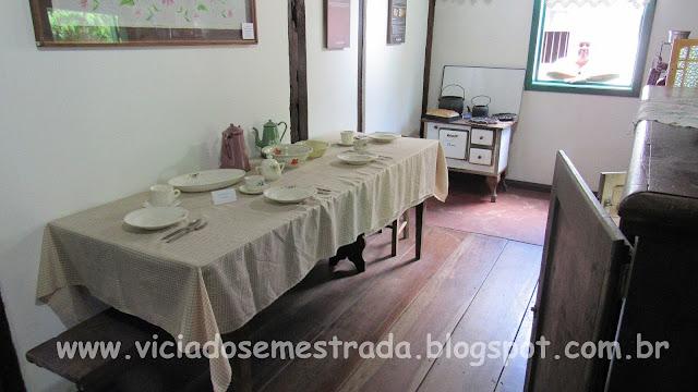 Mesa montada, Museu Cláudio Oscar Becker