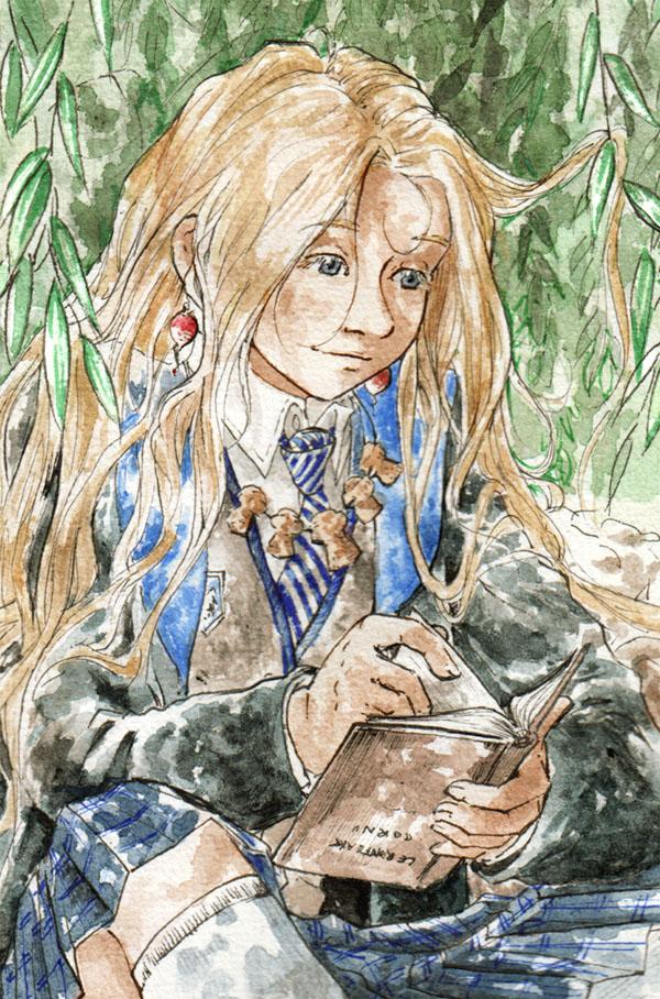 Détail fanart Luna dans les saules - Harry Potter