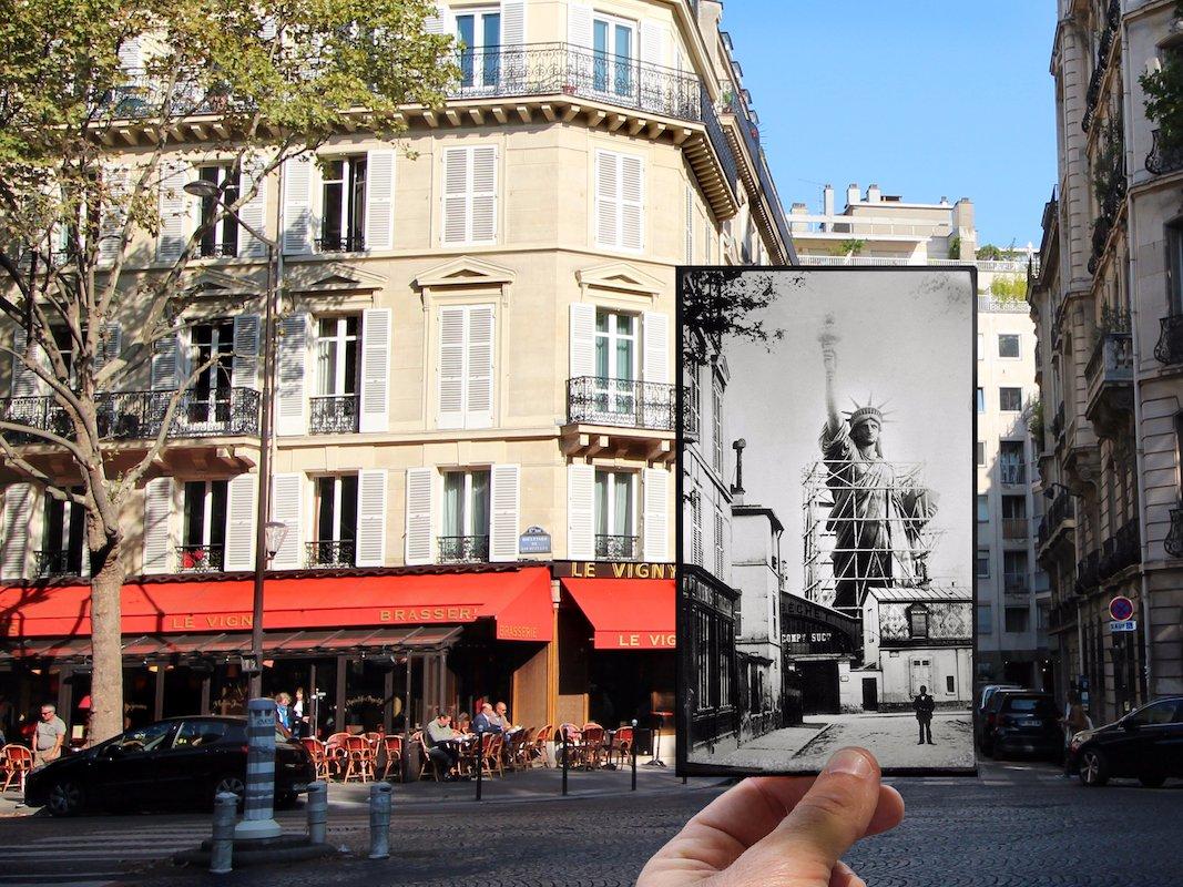 20 amazing then and now photos that show how much paris for Boulevard du jardin exotique