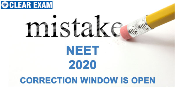 NEET 2020 Correction Window Opens